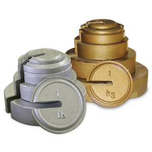 RICE LAKE Cast Iron Calibration Weights - Slotted Interlocking and Hanger Weights